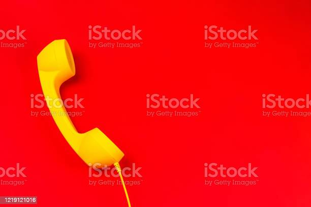 Yellow handset on a red background picture id1219121016?b=1&k=6&m=1219121016&s=612x612&h=6q9iqhcvh562ld tiz12vw1h1875adg26qfvbg nm7o=