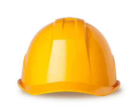 Construction Helmet with Clipping Paths.