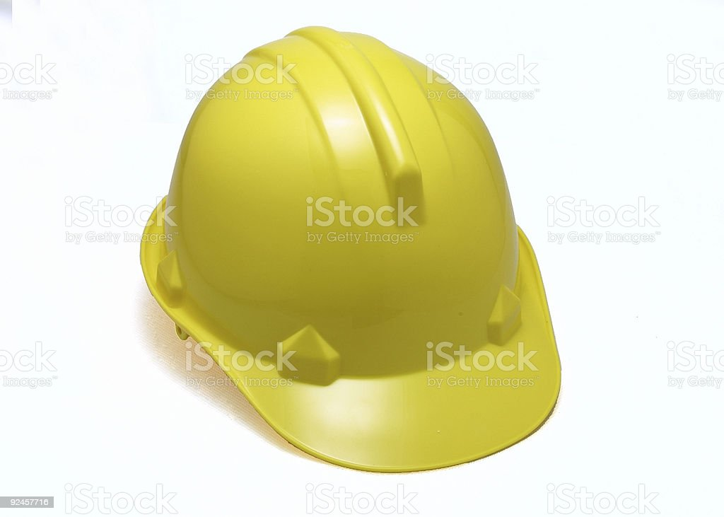 yellow hard hat royalty-free stock photo