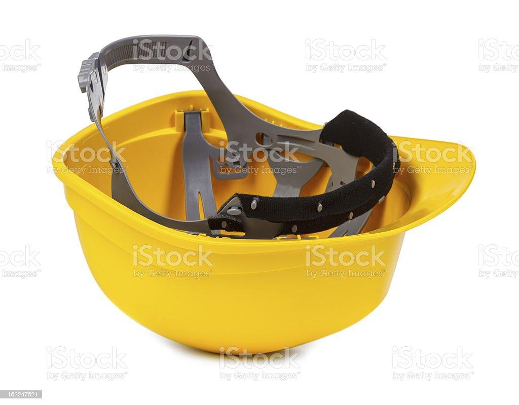 yellow hard hat upside down royalty-free stock photo