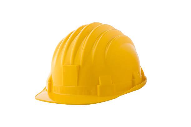 casco duro amarillo - accesorio de cabeza fotografías e imágenes de stock