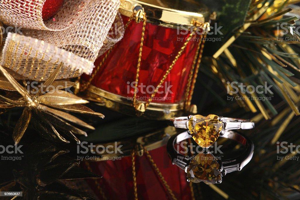 Yellow Heart Diamond Ring royalty-free stock photo