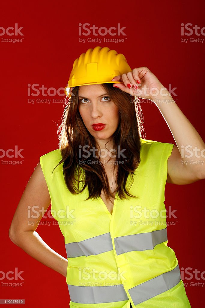yellow helmet royalty-free stock photo