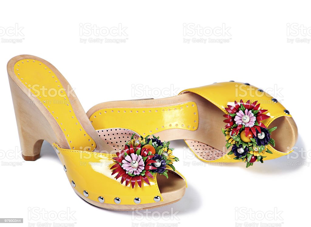 Yellow high shoes royalty-free stock photo
