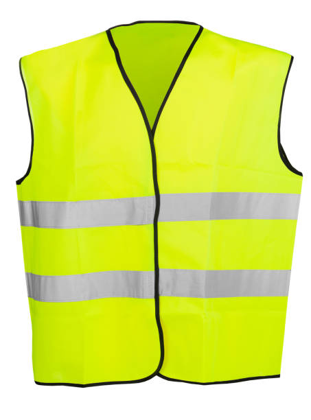 Yellow high visibility safety vest isolated on white background Yellow high visibility safety vest isolated on white background reflective clothing stock pictures, royalty-free photos & images