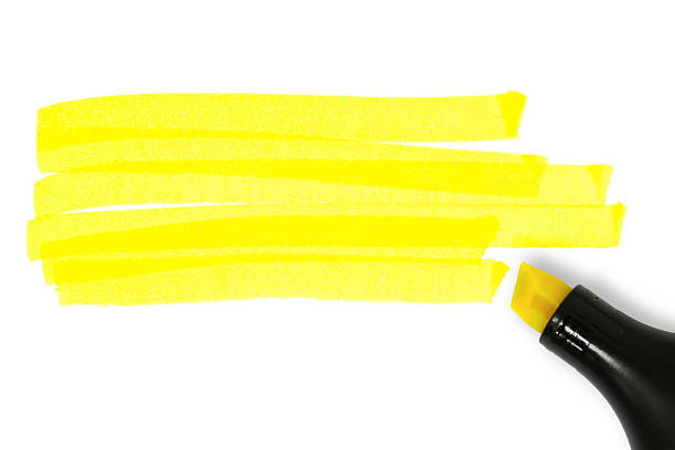 Yellow highlighter lines – Foto