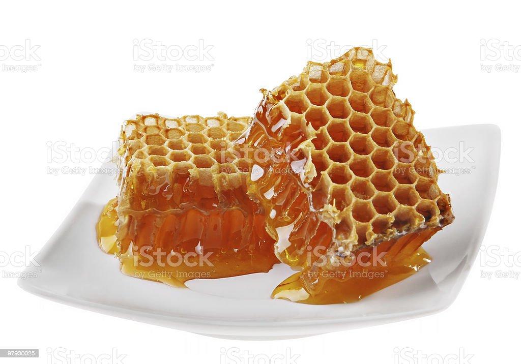 Yellow honeycomb royalty-free stock photo