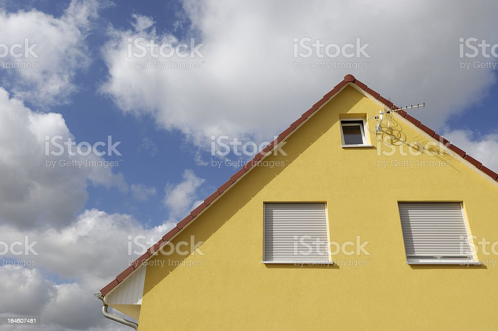 Yellow house royalty-free stock photo