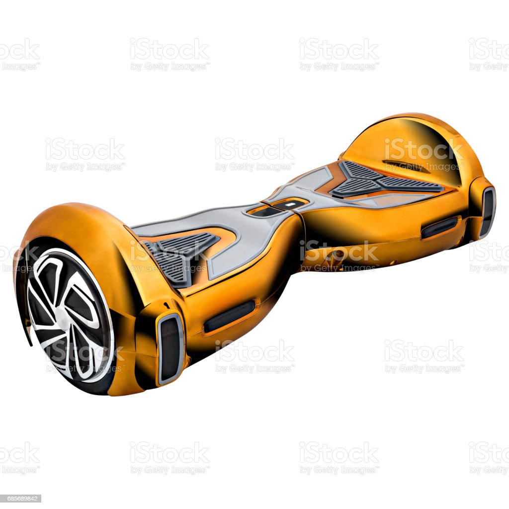 Yellow hover Board royalty-free stock photo