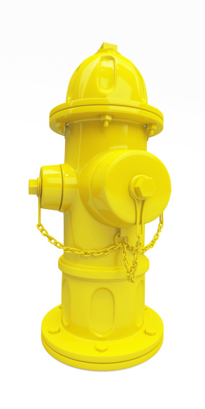 3d Yellow Hydrant Stock Photo - Download Image Now