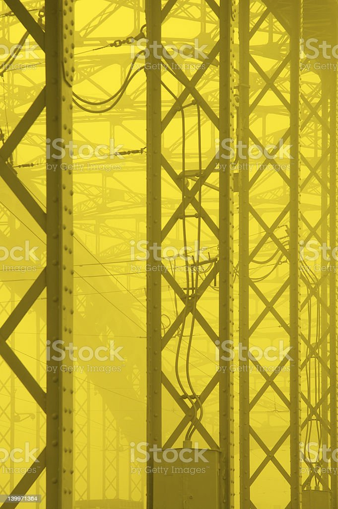 yellow industial background royalty-free stock photo