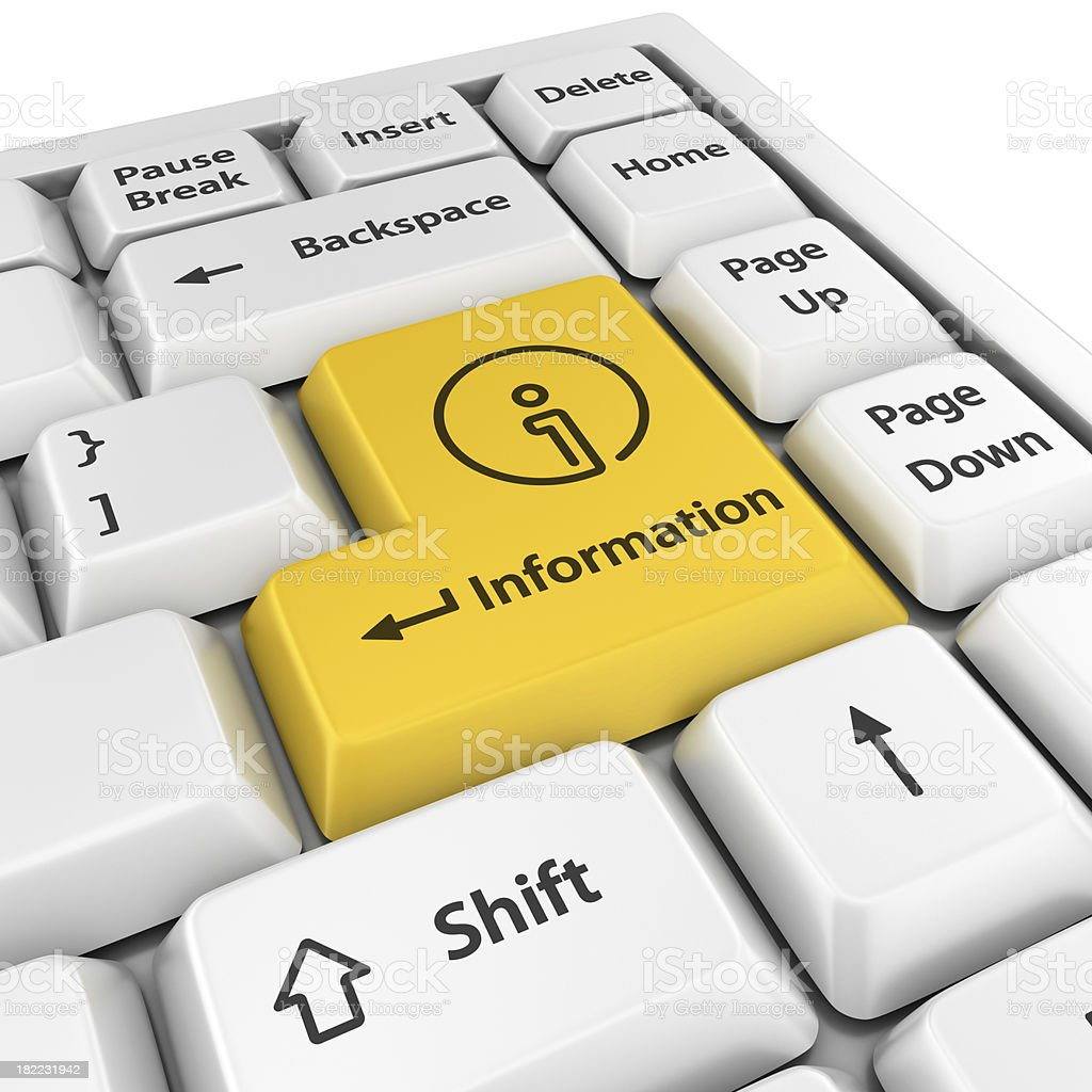 yellow information enter button royalty-free stock photo