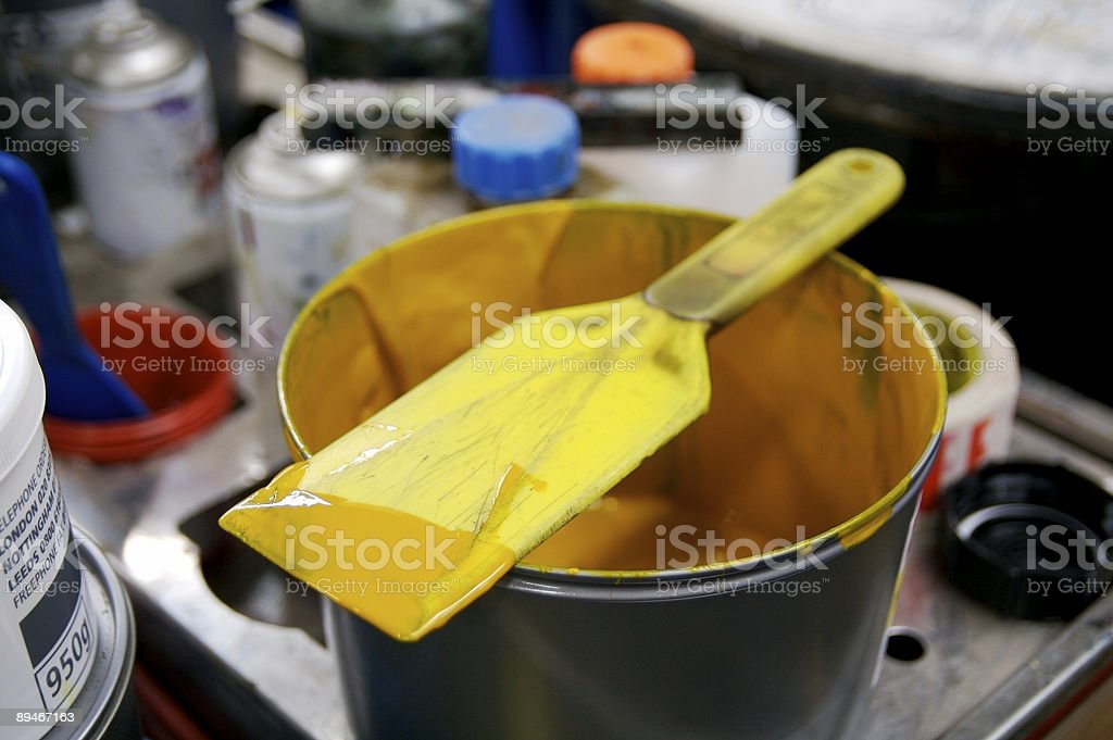 Yellow ink knife... royalty-free stock photo