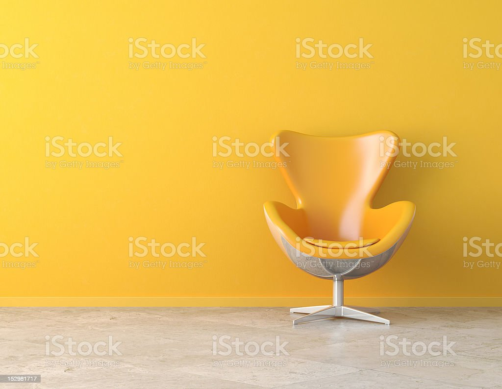 yellow interior copy space stock photo