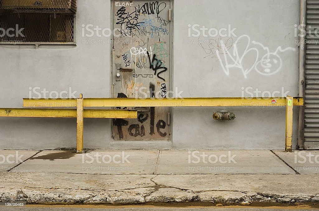 yellow iron bars royalty-free stock photo