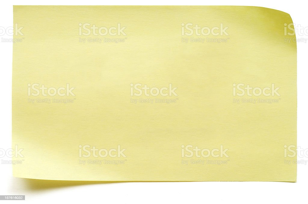Yellow isolated Post-it Note stock photo