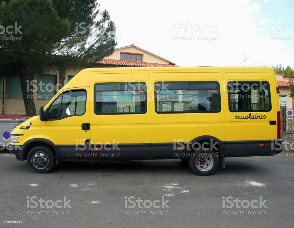 Yellow Italian School Bus - foto stock