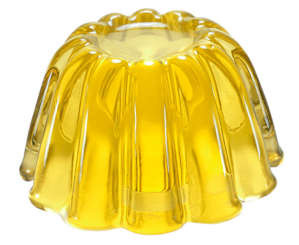 Yellow jelly stock photo