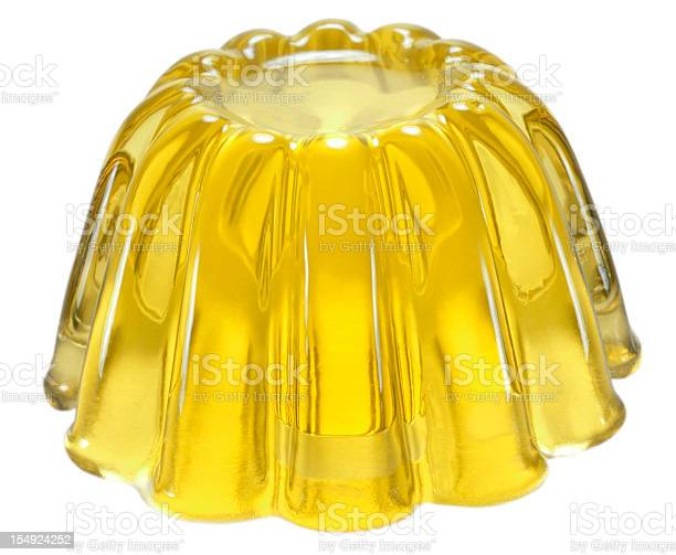 Yellow Jelly Stock Photo - Download Image Now