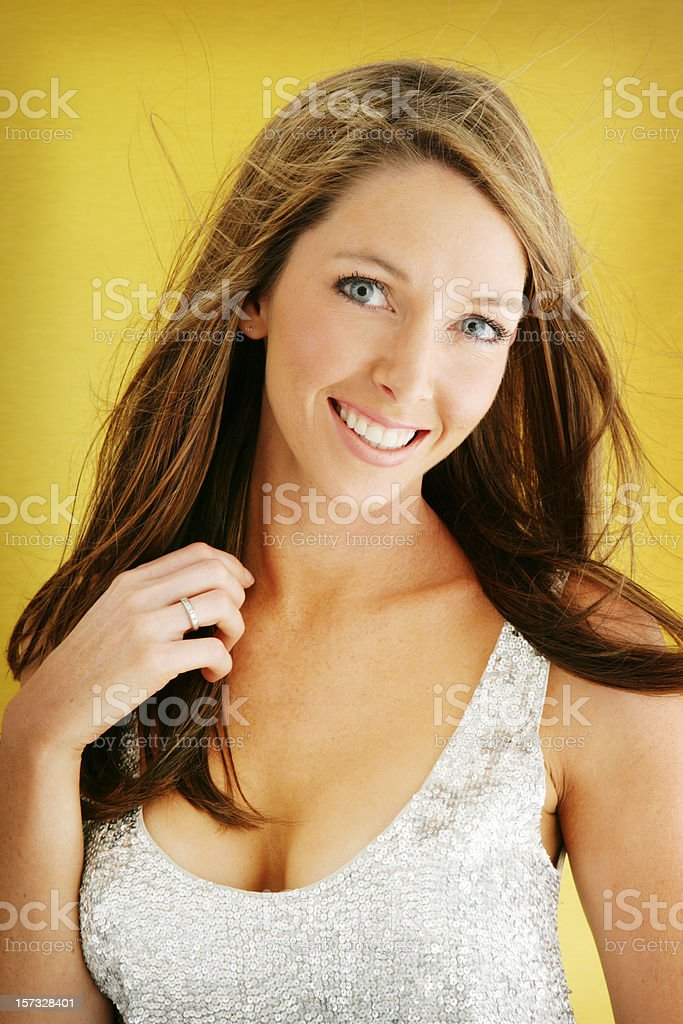 Yellow Joy royalty-free stock photo
