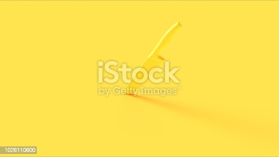 Yellow Knife 3d illustration 3d rendering