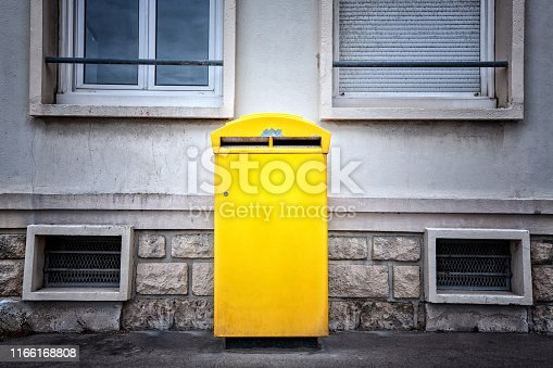 istock Yellow La Poste Mailbox in France 1166168808
