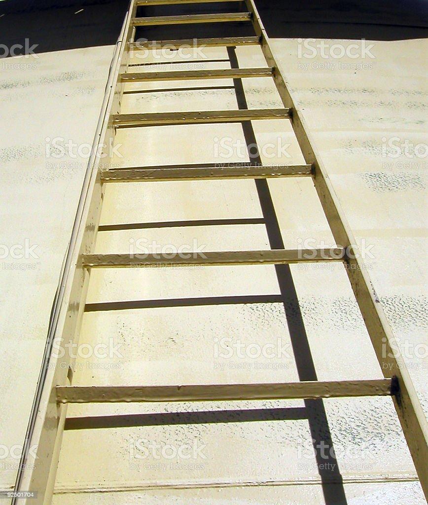 Yellow Ladder royalty-free stock photo