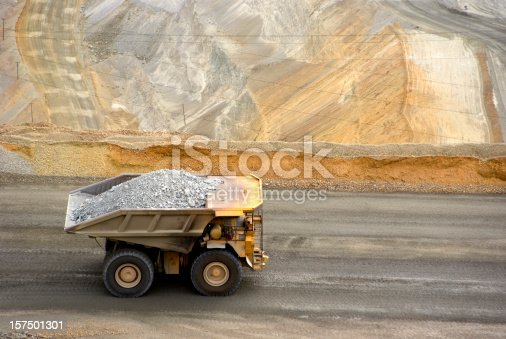 mining industry in Thailand in white background