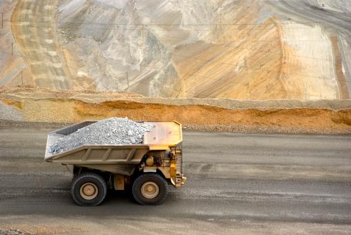 large dumptruck in utah copper mine