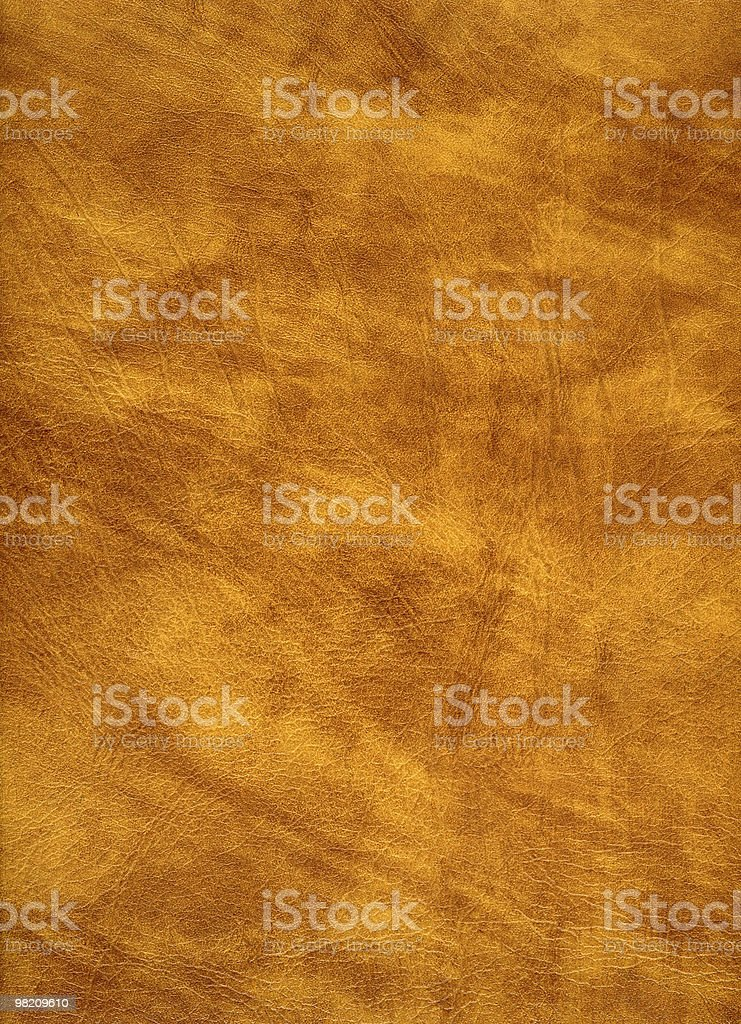 Yellow leather detail. royalty-free stock photo