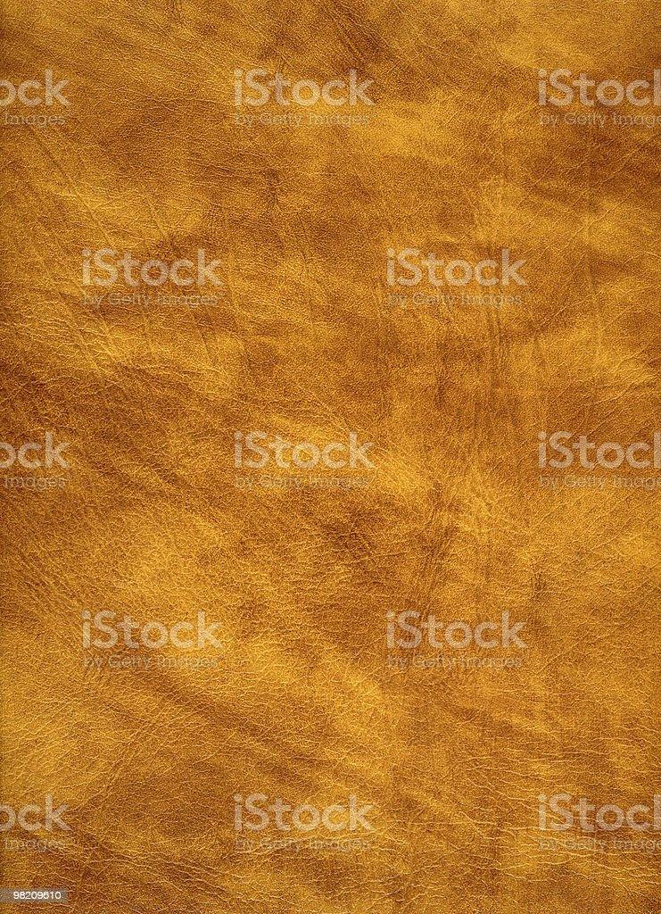 Yellow leather detail. stock photo