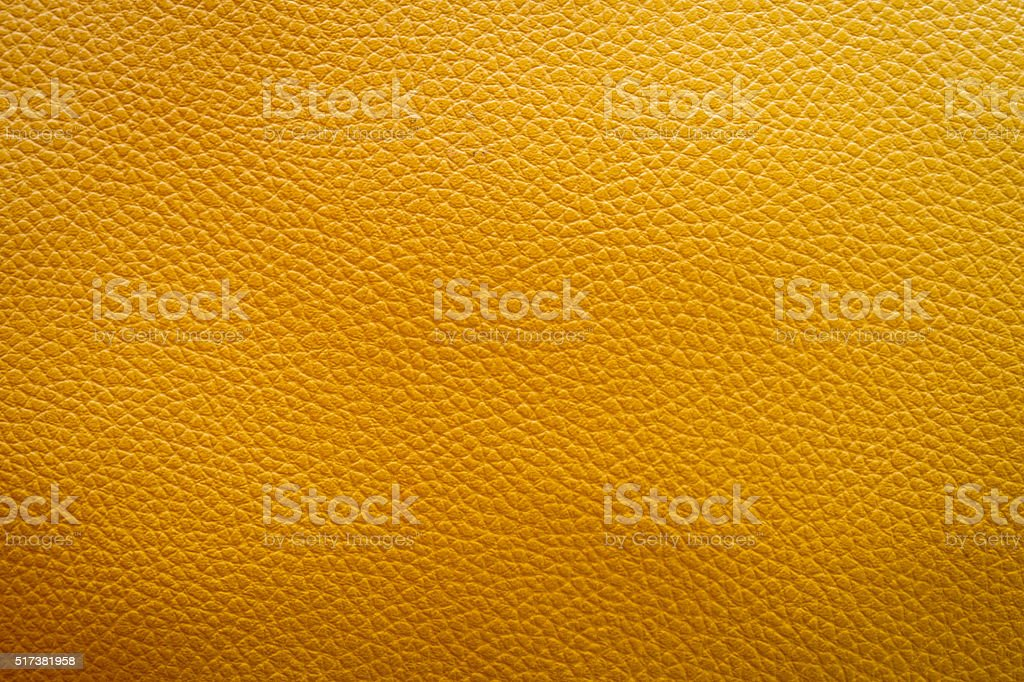 Yellow leather texture background stock photo