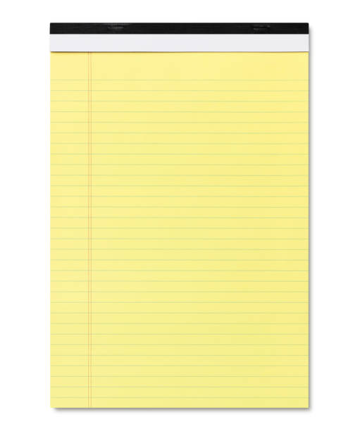 Yellow Legal Pad Yellow Legal Pad isolated on white (excluding the shadow) note pad stock pictures, royalty-free photos & images