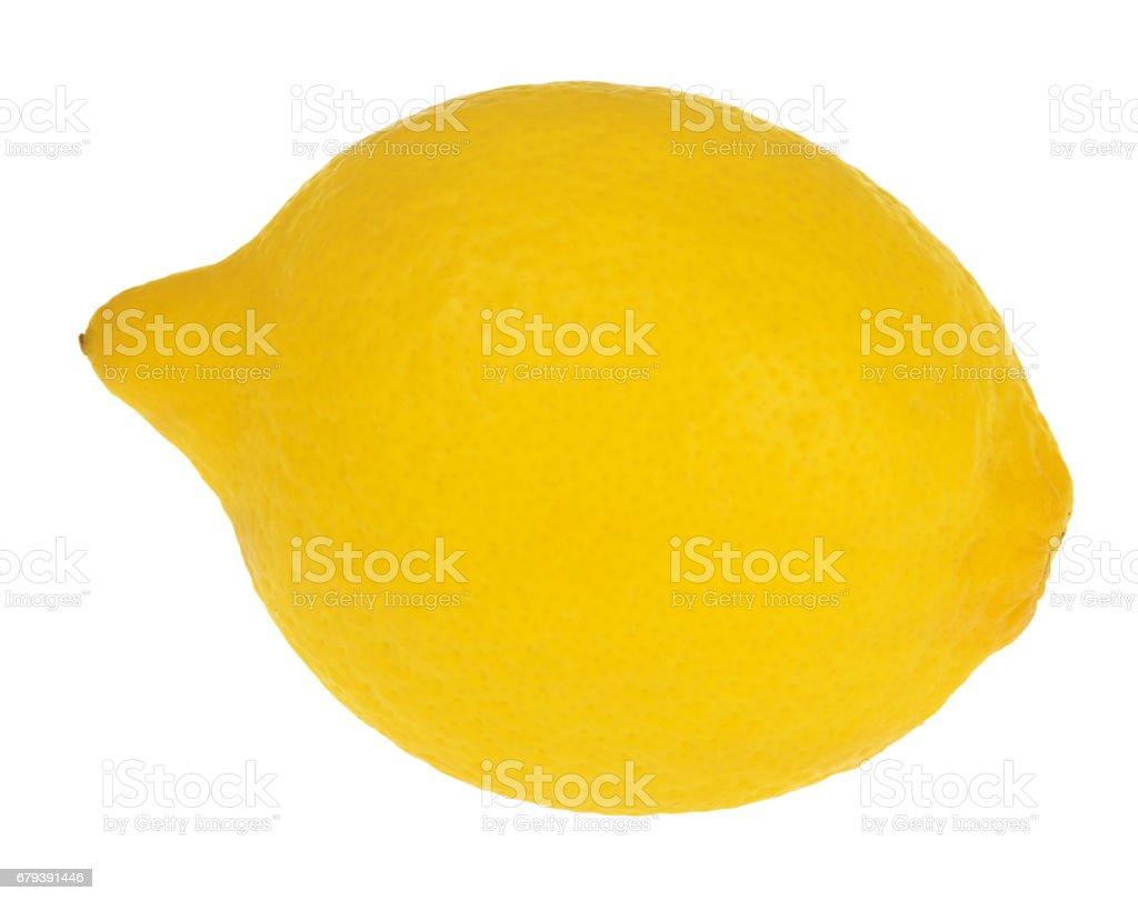 yellow lemon isolated on white royalty-free stock photo