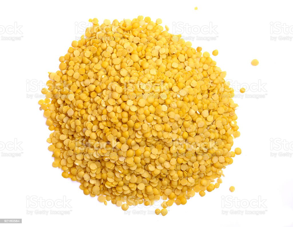 Yellow Lentils royalty-free stock photo