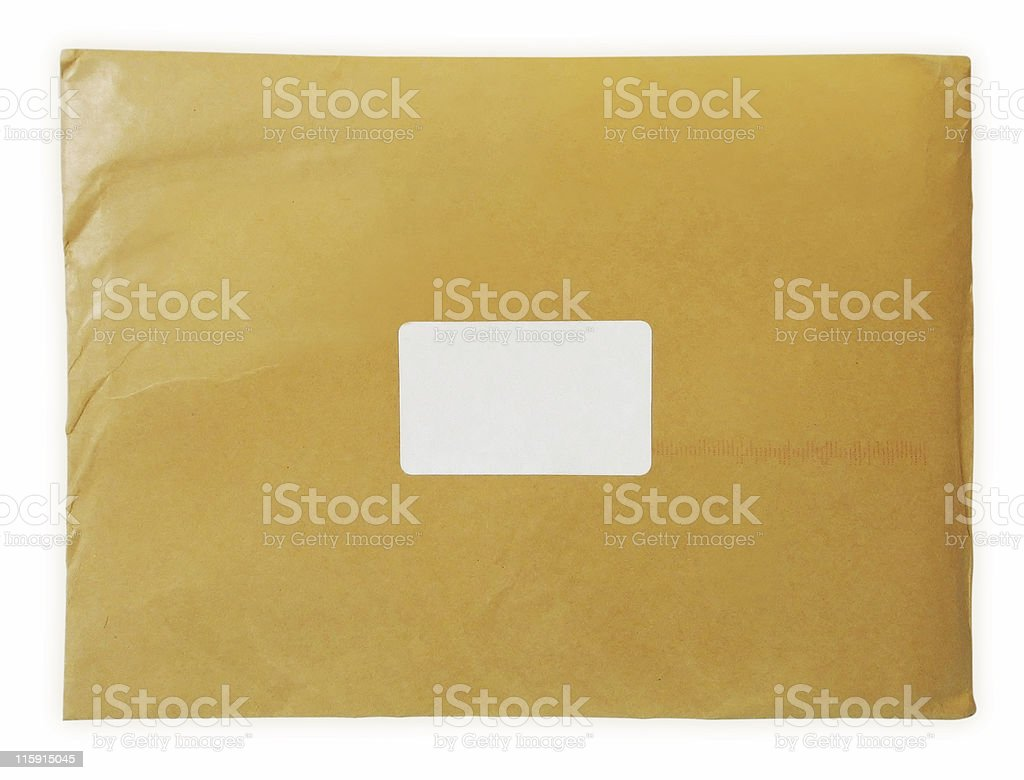 Yellow Letter - Isolated & Clipping path included royalty-free stock photo