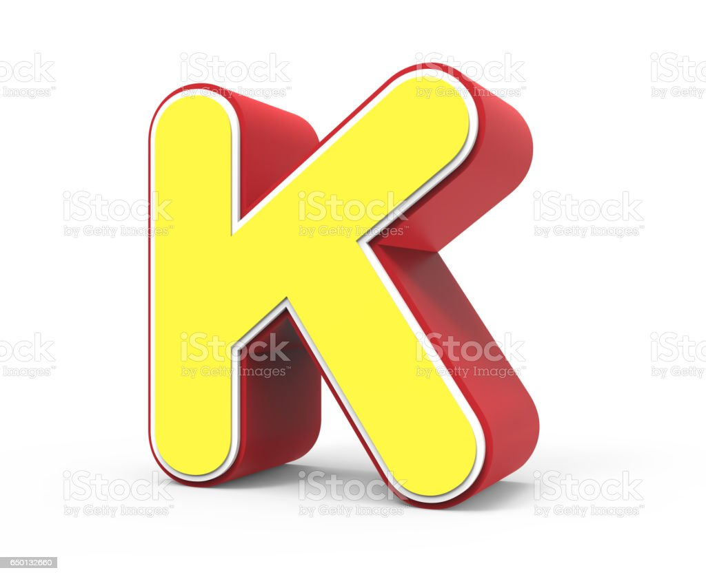 Yellow Letter K Stock Photo Download Image Now Istock