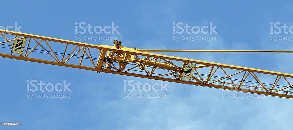 黄色リフティングクレーン ロイヤリティフリーストックフォト