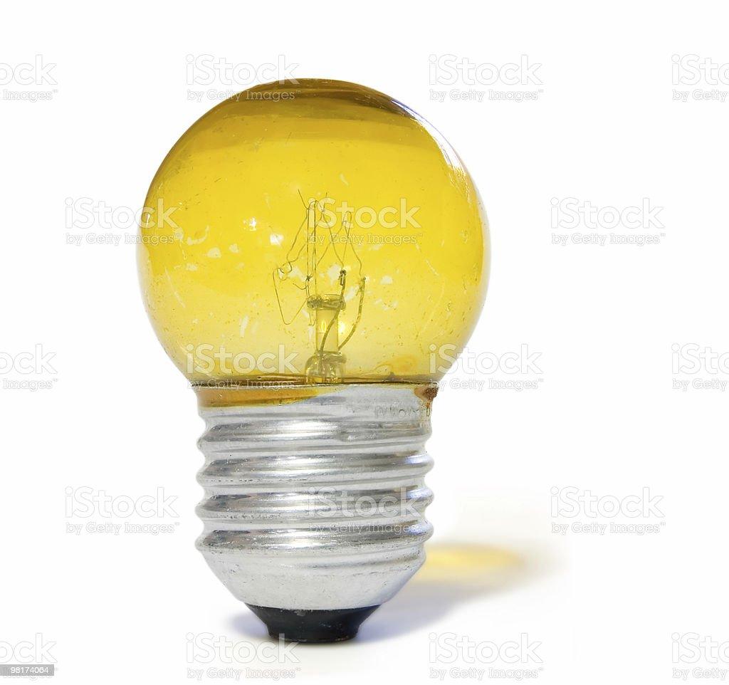 Yellow Light Bulb royalty-free stock photo