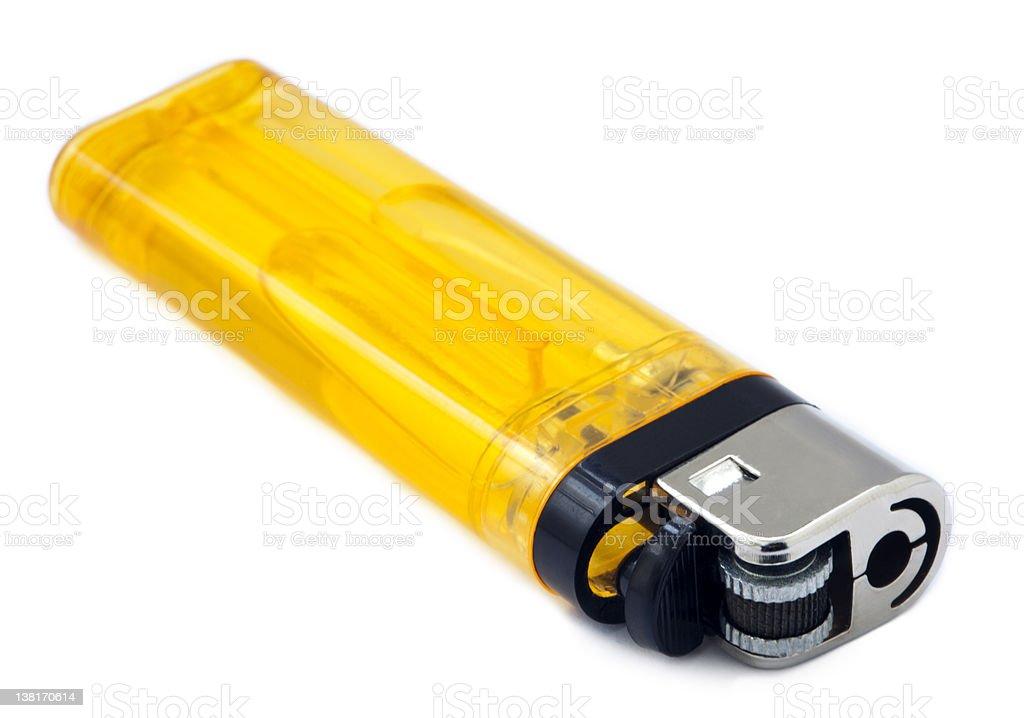 Yellow Lighter stock photo
