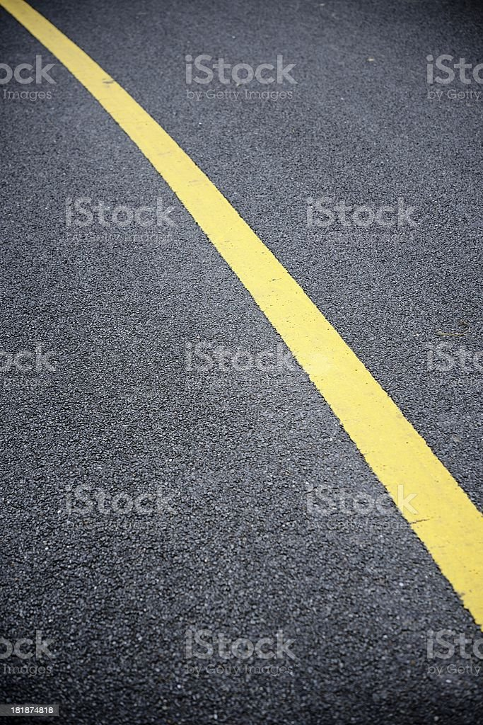 Yellow line royalty-free stock photo