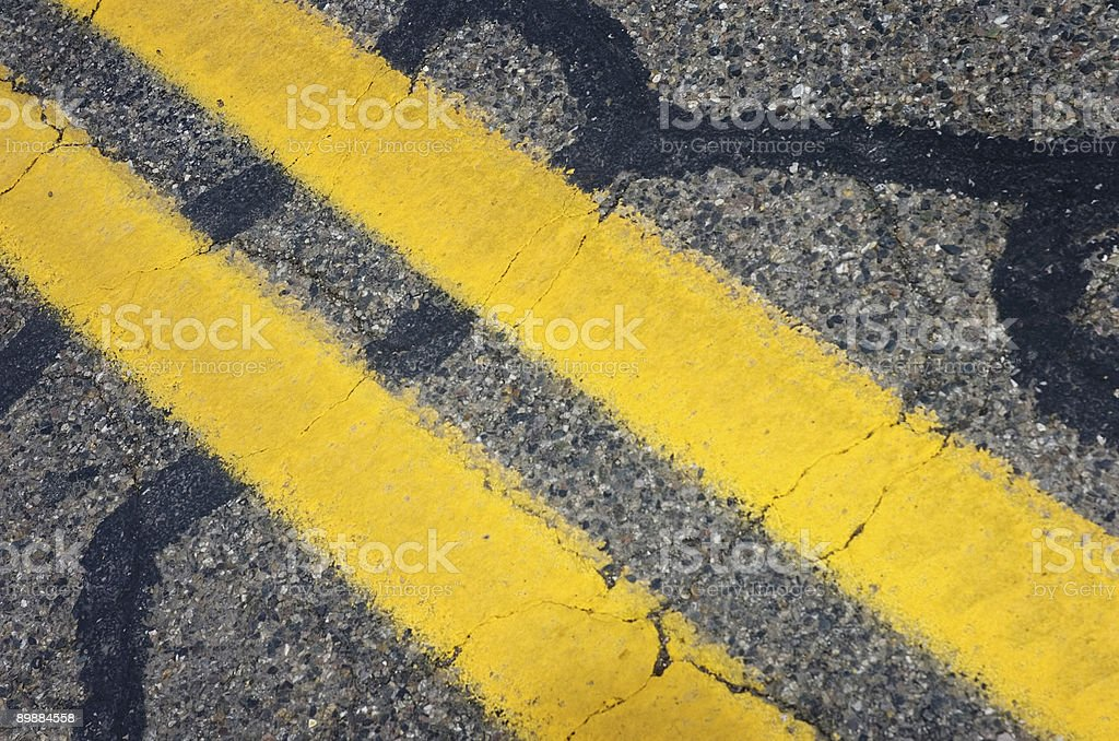 Giallo linee foto stock royalty-free