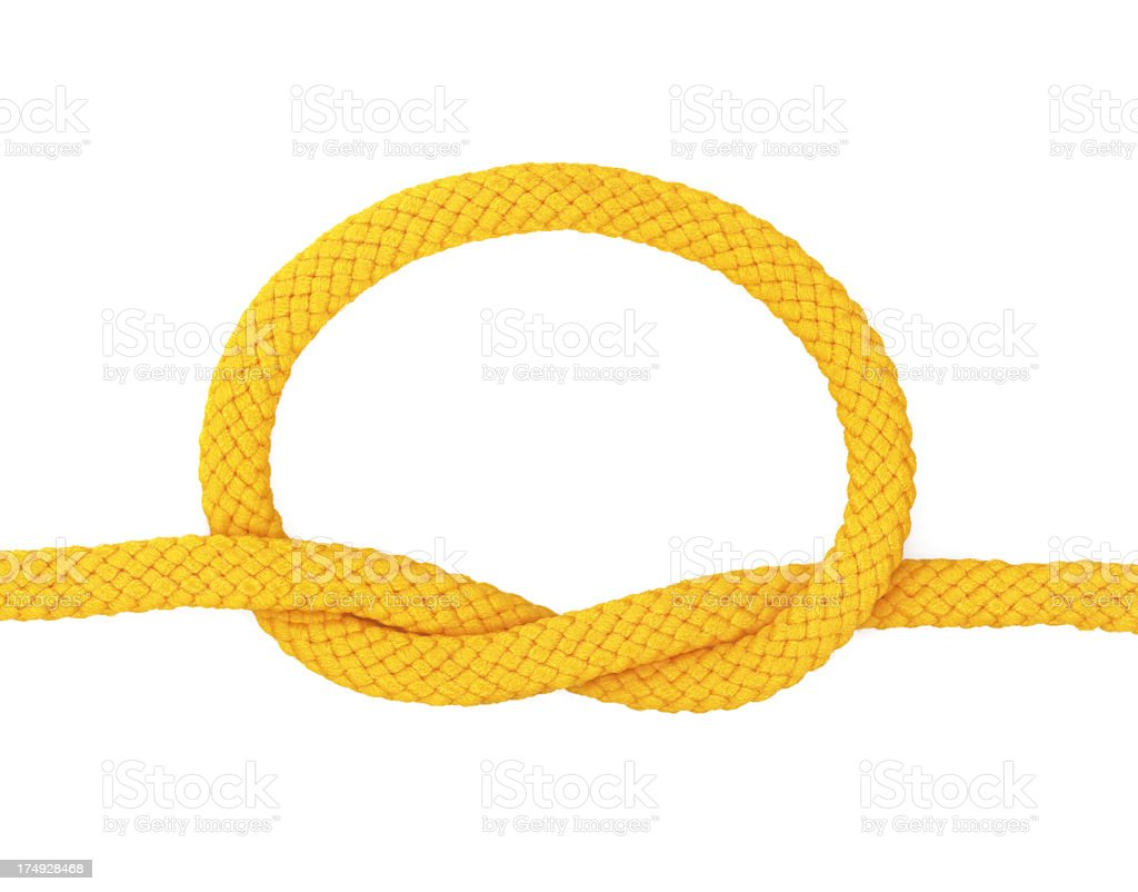 Yellow loop royalty-free stock photo