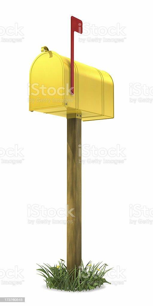 Yellow Mail Box royalty-free stock photo