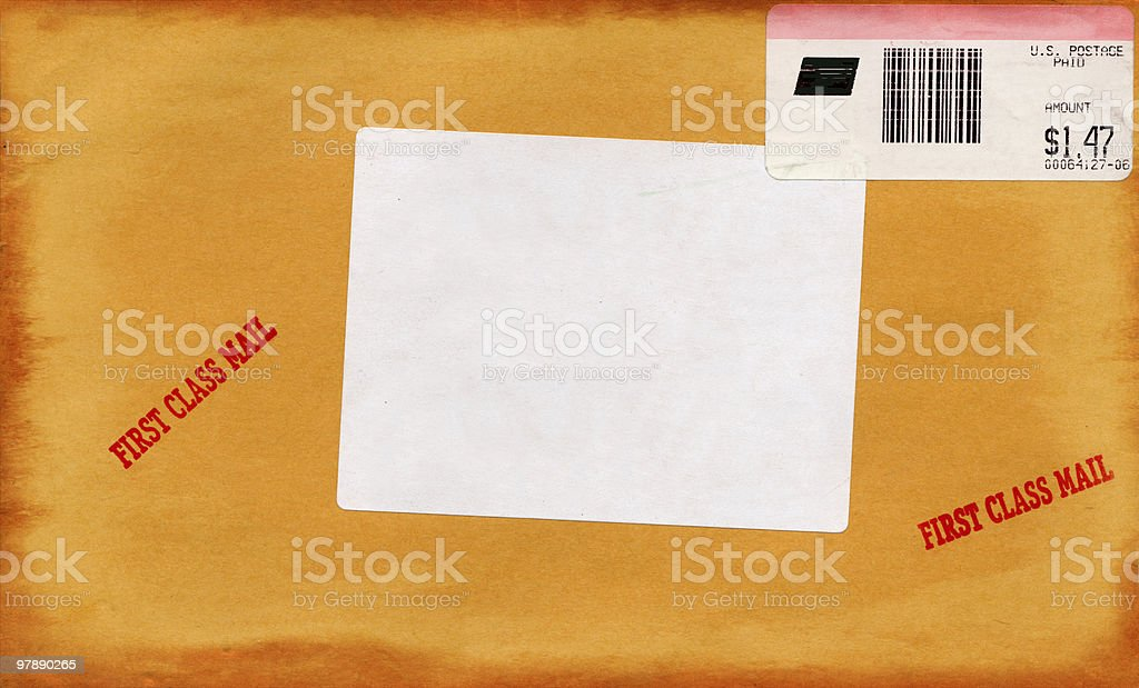 Yellow Mailing Envelope XXL royalty-free stock photo