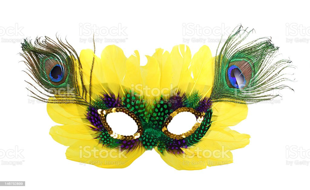 yellow mask stock photo