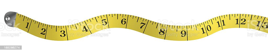 Yellow measuring tape border stock photo