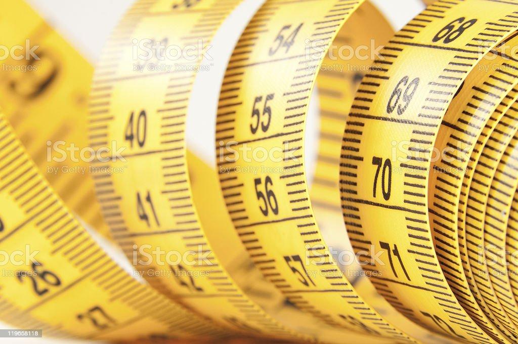 Yellow Measuring Tape royalty-free stock photo