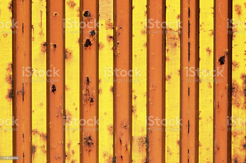 Yellow metal texture royalty-free stock photo