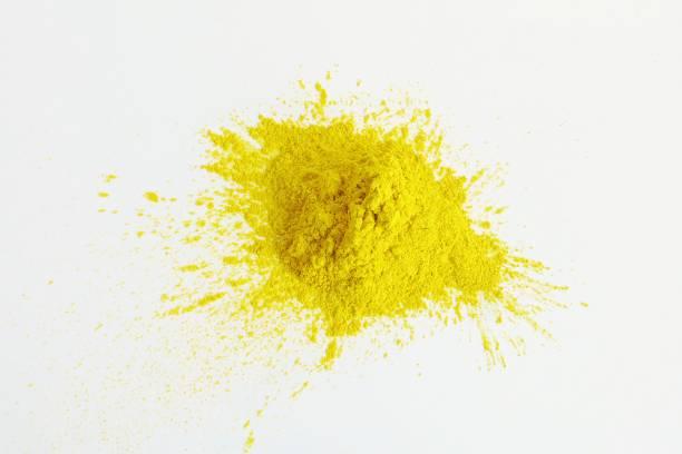 Yellow mica pigment powder cosmetic supplies – zdjęcie